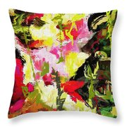 Flowerbox Dragons Throw Pillow