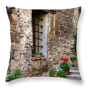 Flowered Stairway Throw Pillow