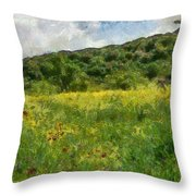 Flowering Fields Throw Pillow