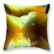 Flowering Fractal Throw Pillow