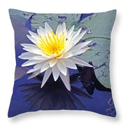 Flowering Lily-pad- St Marks Fl Throw Pillow