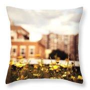 Flowers - High Line Park - New York City Throw Pillow
