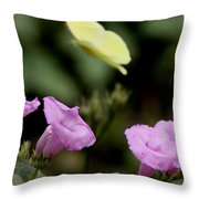 Flowers And Butterfly Throw Pillow