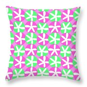 Flowers And Spots  Throw Pillow