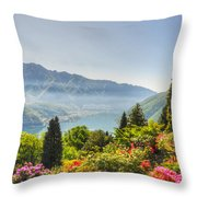 Flowers And Trees Throw Pillow