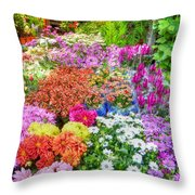 Flowers At Market Throw Pillow
