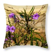 Flowers At The Dock Throw Pillow
