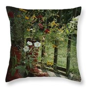 Flowers Bloom From An Unlikely Place-a Throw Pillow