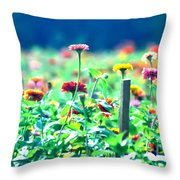 Flowers Everywhere Throw Pillow