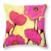 Flowers For Coralyn Throw Pillow by Jennifer Lommers