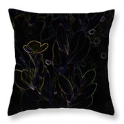 Flowers In Murky Water Throw Pillow