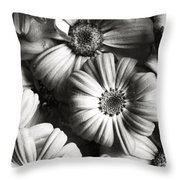 Flowers In Sepia Tone Throw Pillow