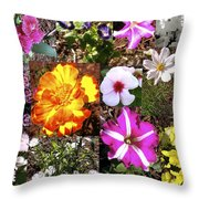 Flowers In Stephanie's Garden Throw Pillow