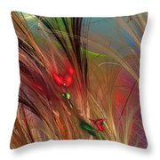 Flowers In The Grass Throw Pillow