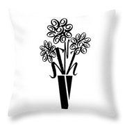 Flowers In Type Throw Pillow