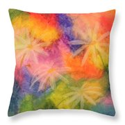 Flowers On Color Throw Pillow