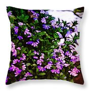 Flowers On The Hill Throw Pillow