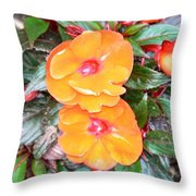 Flowers Plastic Or Real  Throw Pillow
