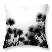 Flowers Standing Tall Throw Pillow
