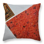 Flowers Without Justin Throw Pillow