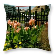Flowerscape  Throw Pillow
