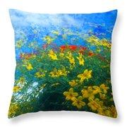 Flowery Sky Throw Pillow