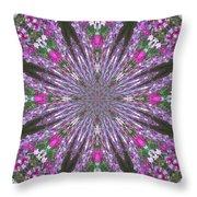Flowery Snow Flake Throw Pillow