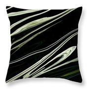 Flowing 2 Throw Pillow