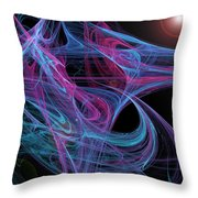 Flowing Energy II Throw Pillow