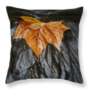 Flowing Leaf Throw Pillow