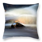 Flowing River II Throw Pillow