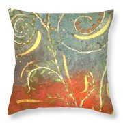 Flowing Wild In The Sun Throw Pillow