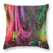Fluidic Space Throw Pillow