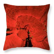 Fluorescent Coral In Uv Light Throw Pillow