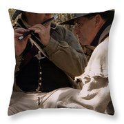 Flute Melody Throw Pillow