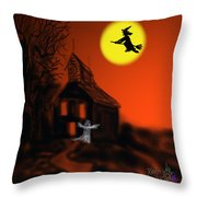 Fly By Night Throw Pillow by Kevin Caudill
