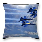Fly The Skys Blue Angels Throw Pillow