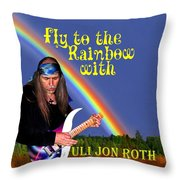 Fly To The Rainbow With Uli Jon Roth Throw Pillow