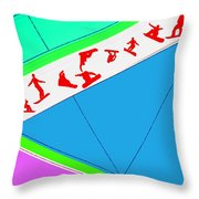 Flying Boards Throw Pillow