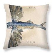 Flying-fish, 1585 Throw Pillow