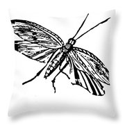 Flying Insect Throw Pillow