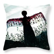 Flying Throw Pillow by Joana Kruse