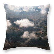 Flying Over Spanish Land Iv Throw Pillow