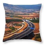 Flying Over Spanish Land V Throw Pillow