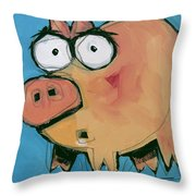 Flying Pig 1 Throw Pillow