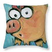 Flying Pig 2 Throw Pillow