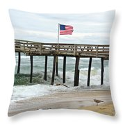 Flying Proudly Throw Pillow