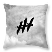 Flying Together Throw Pillow