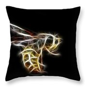 Flying Wasp Throw Pillow