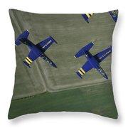 Flying With The Aero L-39 Albatros Throw Pillow